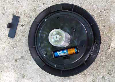 Replace batteries solar light